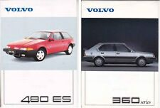 Two 1988-89 VOLVO 480 ES & 360 SERIES 2 Page Sheets for International Market NZ
