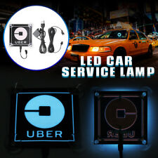 For Uber LED Flashing Car Bright Glow Sticker Light Sign Intelligent Induction