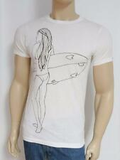 Rusty Surfing Surfer Girl Tee White T-Shirt New NWT Men's Small