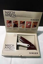 Singer Match A Patch Hole & Tear Mender Handheld Model Q-100A - EXC!