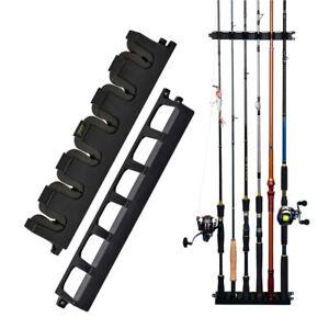6 Fishing Rods Fishing Storage Rack Stand Holder Rack Wall Mounted Fishing Rods