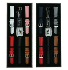 Disney Mickey And Minnie Mouse Limited Edition Leather Watch Sets By Accutime