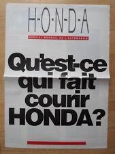 HONDA RANGE 1991 French Mkt Broadsheet Brochure - NSX Prelude FS-X Concept etc