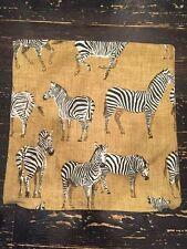 "Yellow Black Zebra Pillow Cover Sham 22"""