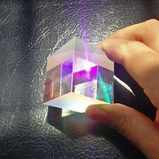 1PCS 34*34*36mm Defective Dichroic Cube Beam Splitter Prism Home Decoration