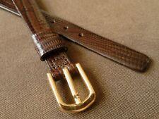 Ladies NOS Stylecraft 11R Brown Flat Stitchless Genuine Allig-Lizard Watch Band