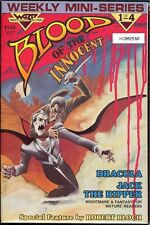 Blood Of The Innocent 1-4 Dracula vs Jack The Ripper Warp Graphics 1986 VF/NM