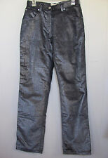 NWOT - Armani Jeans Silver Metallic on Navy Velvet Pants-Very Sparkly-Size 27