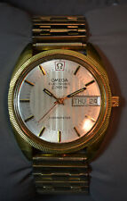 Omega Electronic f300Hz Gold Pl Men's Chronometer Watch*1972*Ca.1260 Tuning Fork
