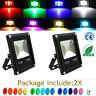 2X LED Flood Light 10W RGB Remote Control 16 Colors 4 Modes Outdoor Spot 85-265V