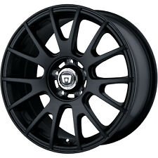 4 - 18x8 Black Motegi MR118 Wheel 5x112 +45 Offset MR11888056745