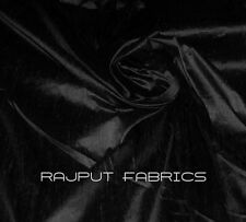 54 Wide 100% Natural Silk Dupioni Black Fabric Luxurious HIGHQUALITY By The Yard