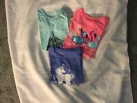 Girls Cat & Jack Novelty Short Sleeve T-Shirts Lot 0f 3 Size XS 4/5 NEW