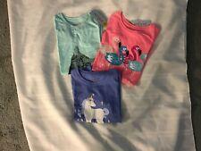 Girls Cat & Jack Novelty Short Sleeve T-Shirts Lot 0f 3 Size S 6/6X NEW