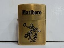 VTG ZIPPO BRASS LIGHTER MARLBORO COWBOY ON HORSE