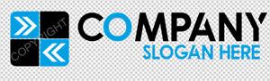 Fertiges Logo #037 Template inkl. Vektorgrafik, Black + Blue Logovorlage, Design