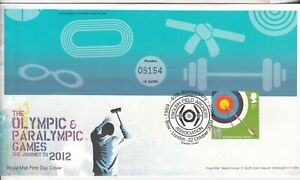 2009 Olympic & Paralympic Games FDC, Archery, Excellent Condition