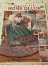 New listing Leisure Arts Barbie Fashion Doll Home Decor Pattern Book