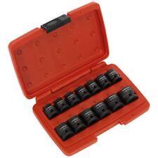 """Sealey Premier 13pc 1/2"""" Drive Low Profile Impact Socket Set 10-24mm WallDrive"""