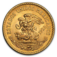 1920 Mexico Gold 20 Pesos AU - SKU #29096