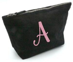 Pink glittery alphabet, Christmas ,make up bag, initials, letter, gift ,birthday