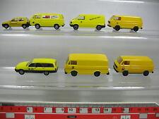 AF203-0,5# 7x Herpa H0 modèle Post: Opel Corso+Omega, Volkswagen VW, NEUF