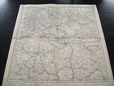 alte Landkarte Blatt 13 Deutschland Hirschberg Böhm.Leipa Dresden Prag um 1900