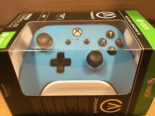Power A Enhance Wired Controller for Xbox One Windows 10 Soft Touch Finish Blue