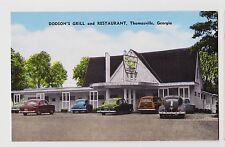 Thomasville,GA.Dodson's Grill & Restaurant,Woody Wagon,Thomas Co.Roadside,c.'40s