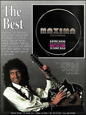 Brian May (Queen band) Maxima guitar strings 1991 advertisement 8 x 11 ad print