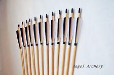 Handmade Cedar wooden arrow longbow wood arrows 12PK for Archery hunting bow