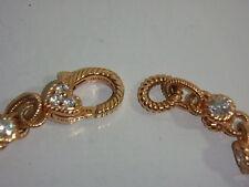 JUDITH RIPKA 14K ROSE GOLD CLAD DIAMONIQUE ROLLING BRACELET 100 FACET AVERAGE