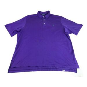 Polo Golf Ralph Lauren Mens Polo Shirt Purple Short Sleeve Collar Pima Cotton XL