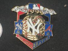 New York Yankees World Series Championship Pin 1999 vs Atlanta Braves PSG Inc