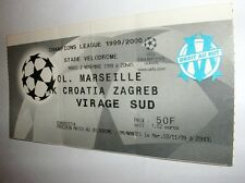 used ticket OLYMPIQUE Marseille - CROATIA Zagreb 02.11.1999