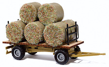 HO Busch Hay Wagon / Trailer with Hay Load for Farm / Field Dioramas 44930