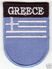 GREECE Flag  Country Patch Shield Style