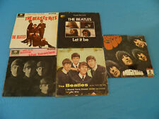 """The Beatles VERY RARE 5xEP Italy UK French 7"""" 45 With Unique Picture Sleeves"""
