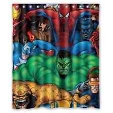 Spiderman Hulk Hero Polyester Bathroom Shower Curtain Custom Home Decor 60x72 IN