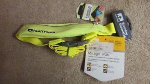 Nathan Mirage Pak/Reflective Running Belt/Fanny Pak- Hi Viz Yellow     (G 44)