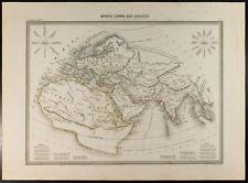 Mapa geográfica 1846 : Mundo conocido por ancianos. Malta-Brown. Rosa de vientos
