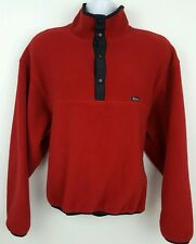 Woolrich Red Pullover Polartec Fleece Snap T Pullover Jacket Size XL