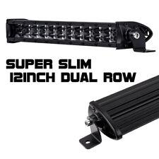 12inch CREE Single Row LED Work Light Bar Super Slim Spot Combo Driving ATV UTV