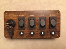 Boat Switch Panel Assembly~4 Switches~5 Circuit Breakers~Ignition~United Marine
