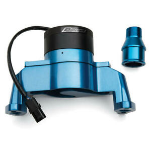 Proform Water Pump 66225B; 35 GPM Blue Aluminum Electric for Chevy 262-400 SBC