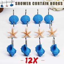 Conch Ocean Series Bathroom Decorative Resin Seashell Clip Shower Curtain Hooks