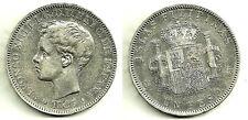 ALFONSO XIII 1 PESO DE 1897. CECA DE FILIPINAS (COLONIAL).  EN PLATA (EBC-)