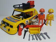 Antiguo Coche Rally Playmobil 3524 Dakar Vehiculo Amarillo Carrera Piloto
