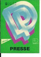 DEEP PURPLE Unused Guest Pass Nürnberg 06.07.1985 (# 0042)