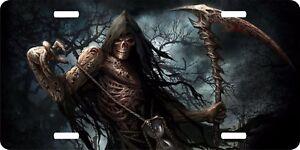 Grim Reaper Mystical Creature Serpent Vanity Auto Car Truck Tag License Plate